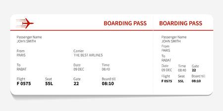 boarding: Red boarding pass