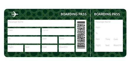 airplane: Airplane ticket blank
