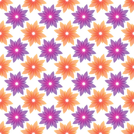 violet flowers: orange and violet flowers seamless