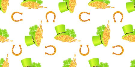 patrick day: St Patrick day seamless Stock Photo