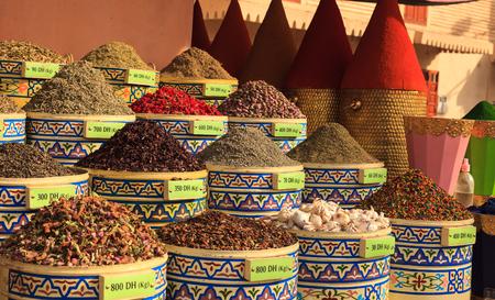 Street market in Morocco Stock Photo