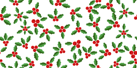 hollyberry: White background with hollyberries