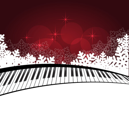 Red template with piano Illustration