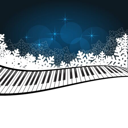 Blue template with piano