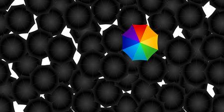 seamless of opened umbrellas Illustration
