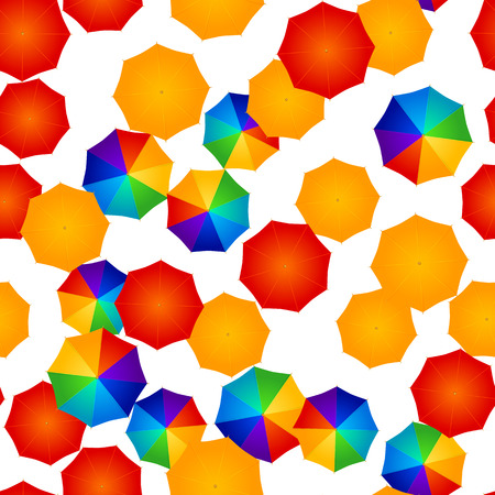 rainbow umbrella: seamless multicolored umbrellas Illustration