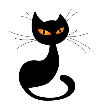 Black cat silhouette Vektorové ilustrace