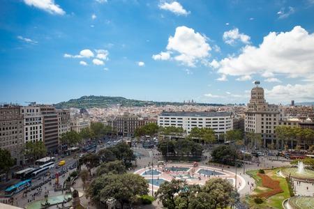 カタルーニャ広場バルセロナ 報道画像