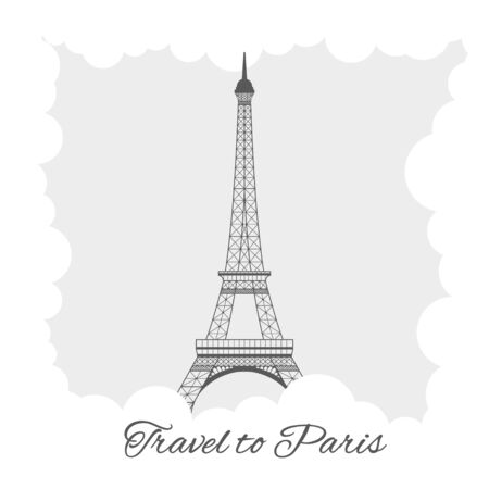 eiffel tower with clouds