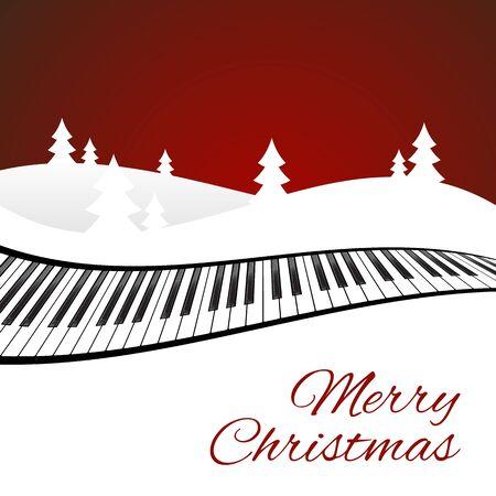 Merry Christmas card on blue background. Vector illustration Illustration