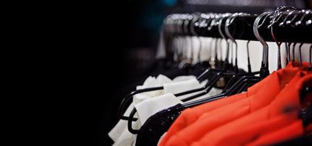 consumerism: Department store on black