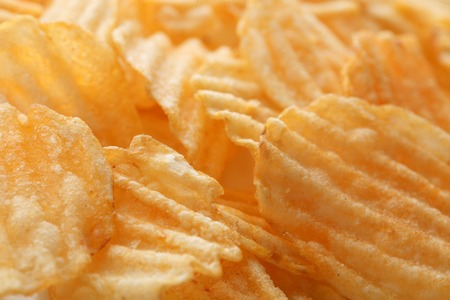 Chips food background