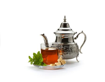 Traditionele Marokkaanse thee Stockfoto