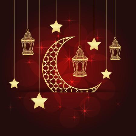 Ramadan greeting card illustration.