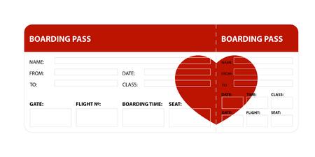 Red boarding pass Archivio Fotografico - 100257251