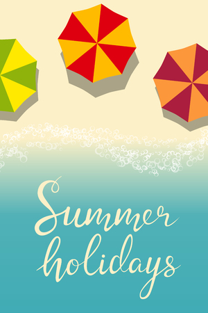 beach summer holiday template for flyer