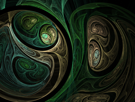 Green abstract fractal