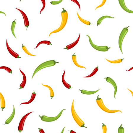 Seamless of chilli peppers