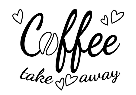 Lettering coffee take away
