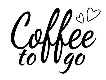 Letras de café para llevar