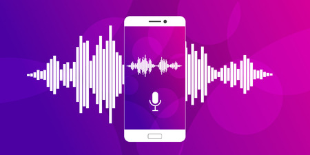 Microphone on screen of a smartphone