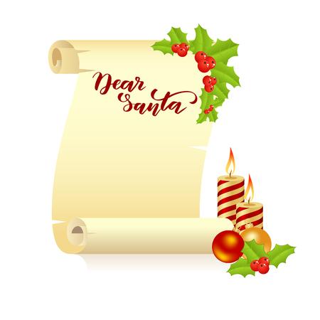 Manuscript Dear Santa Фото со стока
