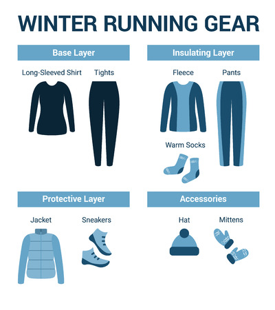 set of clothes for winter running