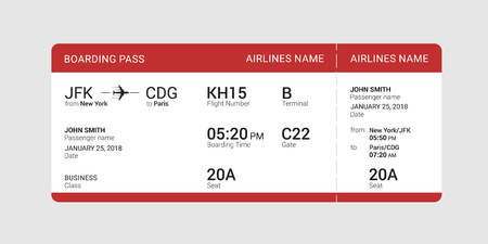 Red boarding pass