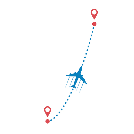 plane and its track Ilustrace
