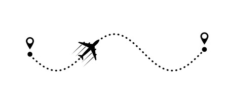 plane and its track Illustration