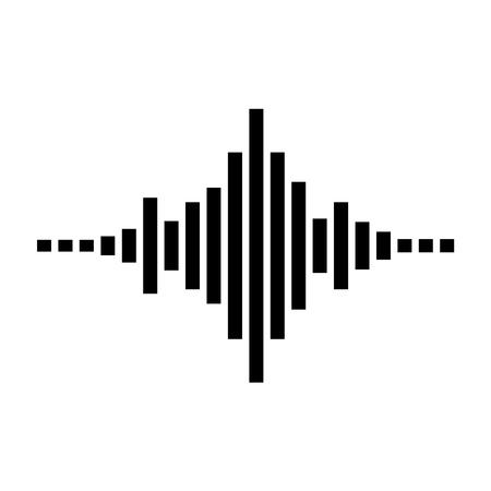 Black equalizer isolated on white background. Vector illustration.