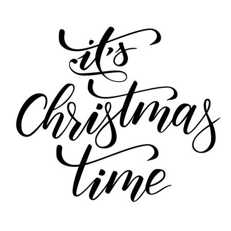 Pinselkalligraphie Es ist Weihnachtszeit