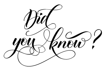 Did you know question Reklamní fotografie - 124810907