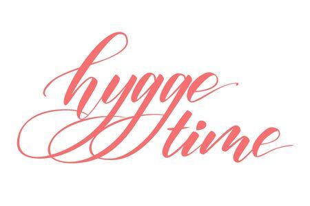 Hygge tijd kalligrafie