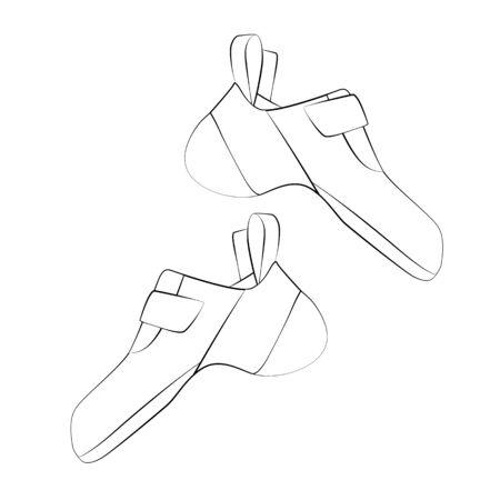 Climbing shoes pair Illustration