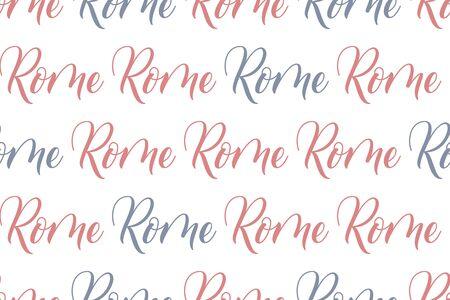 Seamless Brush calligraphy Rome