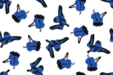 Climbing shoes and chalk bags Ilustracja