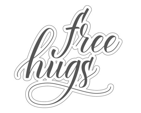 Brush calligraphy Free Hugs