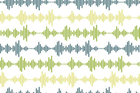 Seamless pattern of Sound waves