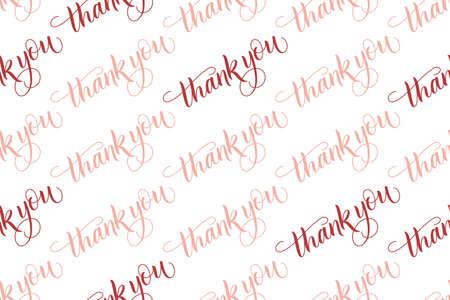 Seamless pattern brush calligraphy Thank you
