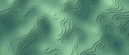 Seamless abstract green background paper cut