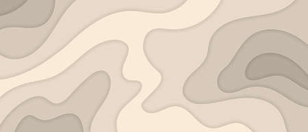Abstract beige background paper cut