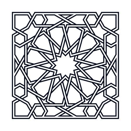 Islamic twelvefold traditional rosette Standard-Bild - 162064558