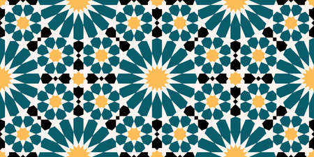 Geometric Islamic Seamless Pattern Standard-Bild - 162888102
