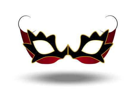 Black and red ball mask for woman Vector