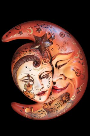 Beautiful carnival mask from venice Italy photo