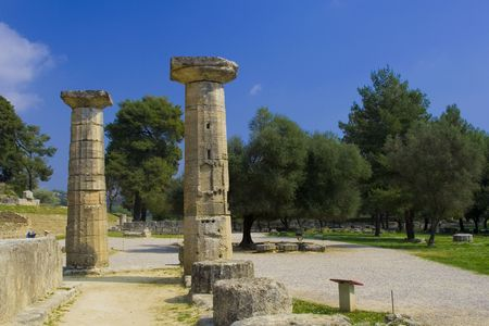 ancient olympic games: Ancient Olympia Greece the cradle of the Olympic games Stock Photo