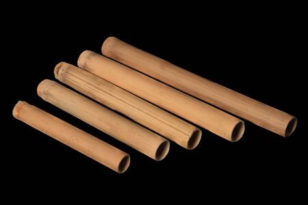 Wooden Flute - isolated on black background Stock Photo - 3666103