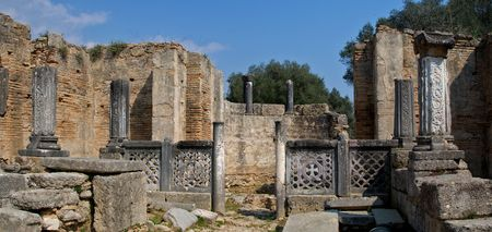 ancient olympic games: Ancient Olympia the cradle of the olympic games in Greece