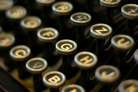 Close up of a Typewriter keyboard photo